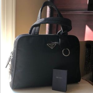Prada black classic Tessuto handle bag
